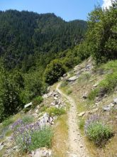 steep switchbacks down the river on this part