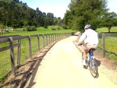 My 85-yr old dad riding on the Carmel River trail