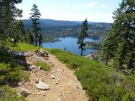 Down Mt. Elwell, Long Lake in view