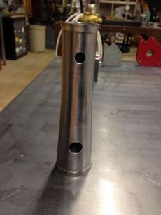 Solid tapered head tube