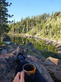 Morning Coffee at Hidden Lake